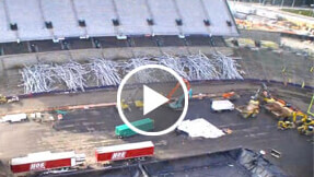 stadium time-lapse construction video